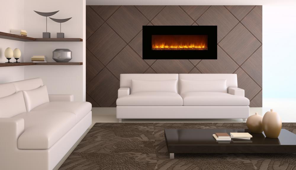 Foyer lectrique 60 pouces mural encastrable de luxe for Foyer mural electrique