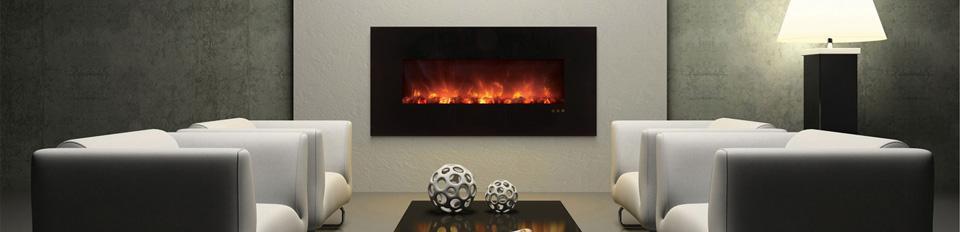 Foyer Electrique Modern Flames : Foyer électrique pouces mural encastrable de luxe