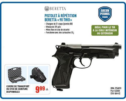 Pistolet à Répétition Beretta « 90 TWO »