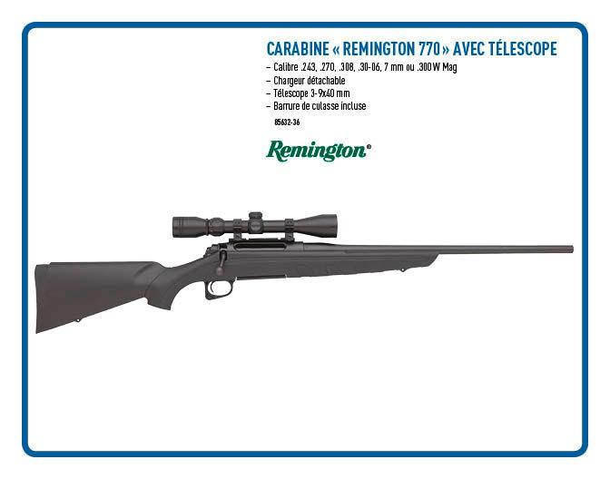 Carabine Remington 770 avec télescope