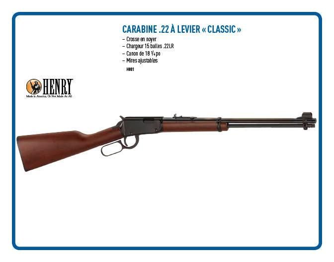 Carabine Henry .22 à Levier Classic