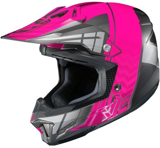 Casque hjc cl x7 cross up rose snell dot motocross for Portent of item protection
