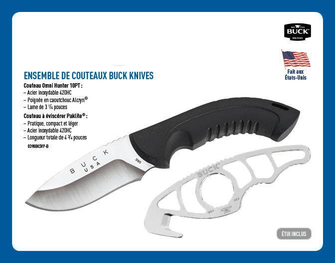 Ensemble de couteaux buck knives