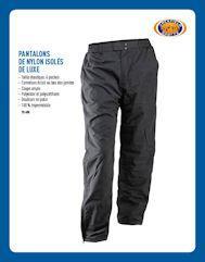 Pantalons de nylon isolés deluxe