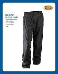 Pantalons de nylon isolés