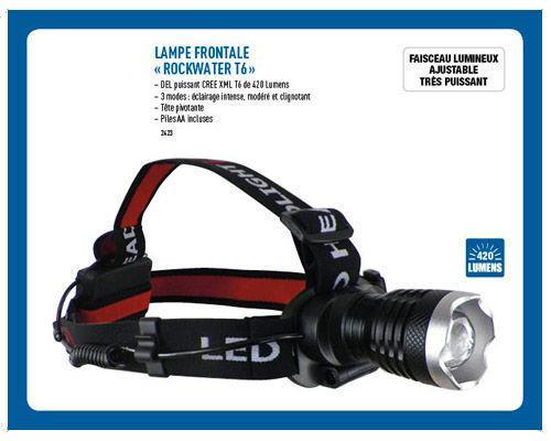 Lampe Frontale « Rockwater T6 »