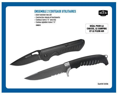 Ensemble 2 Couteaux Utilitaires
