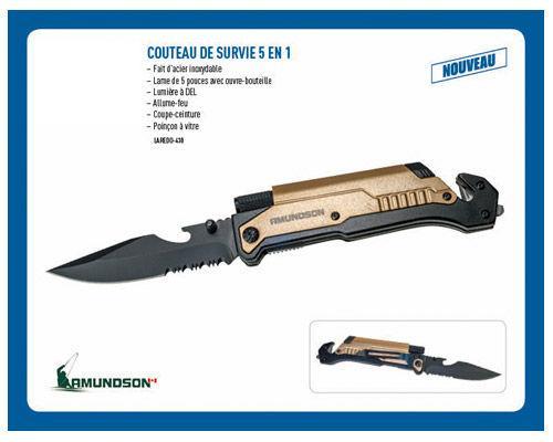 Couteau de Survie 5 en 1