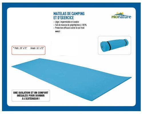Matelas de Camping et d'exercice