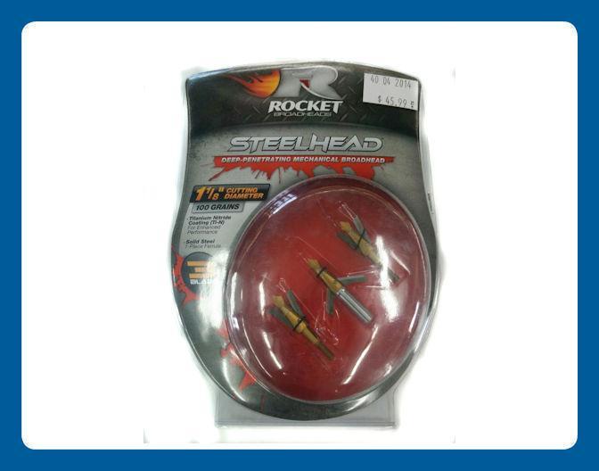 Pointes de Chasse Rocket Steelhead 3 lames coupe 1 1/8+