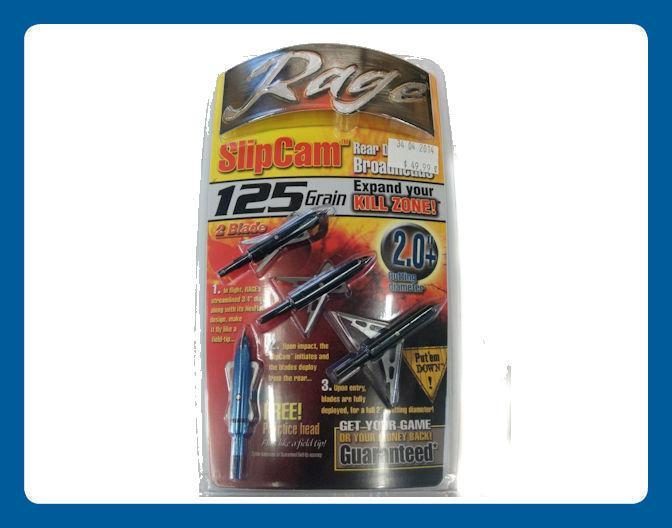 Pointes de Chasse Rage Slipcam 2 lames 125 Grain coupe 2.0