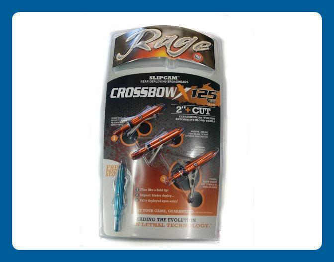 Pointes de Chasse Rage Crossbow X 2 lames 125 grain 2