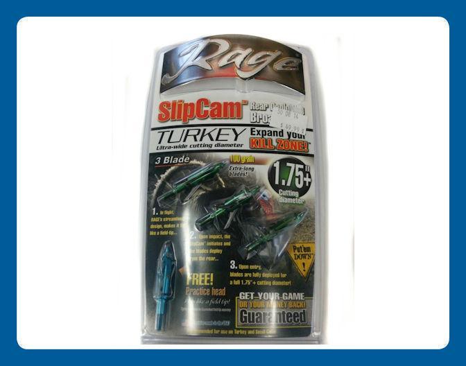Pointes de Chasse Rage Slipcam Turkey 3 lames coupe 1.75