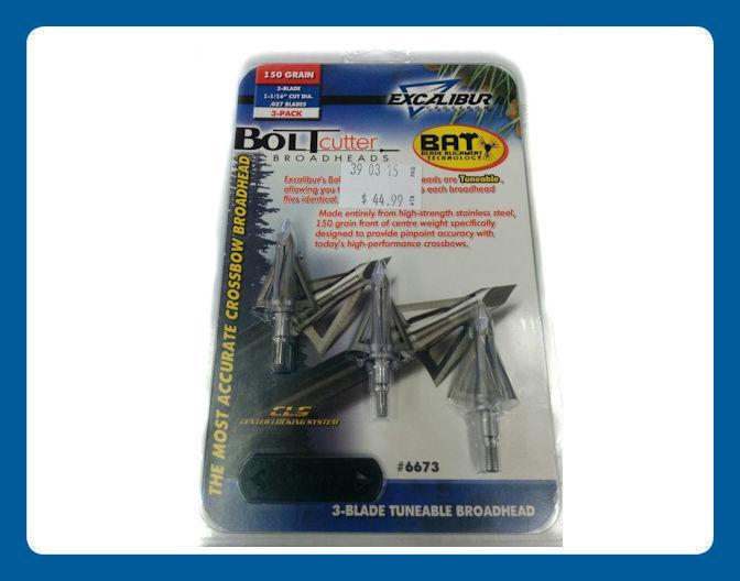 Pointes de Chasse Excalibur Boltcutter 3 lames B.A.T 150 grain