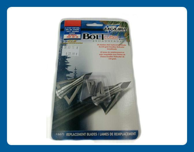 Lames de remplacement pour Excalibur Boltcutter 150 grain