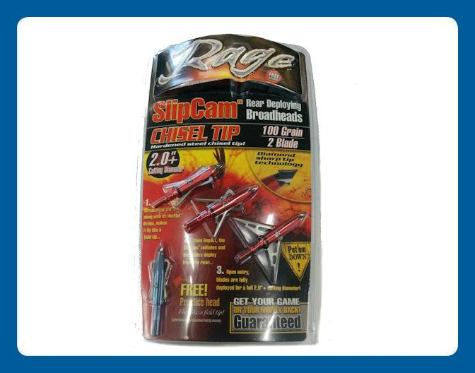 Pointes de Chasse Rage Slipcam 2 lames 100 Grain Coupe 2