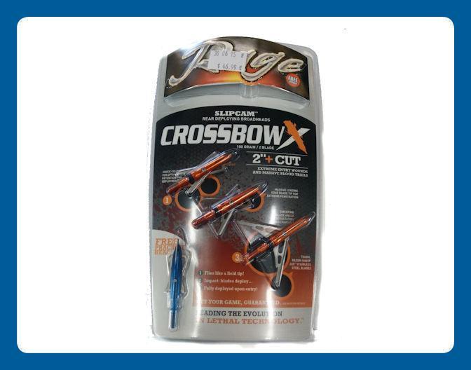 Pointes de Chasse Rage Crossbow X 2