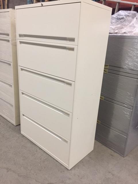 classeur en metal lateral 5 tiroirs reconditionne. Black Bedroom Furniture Sets. Home Design Ideas