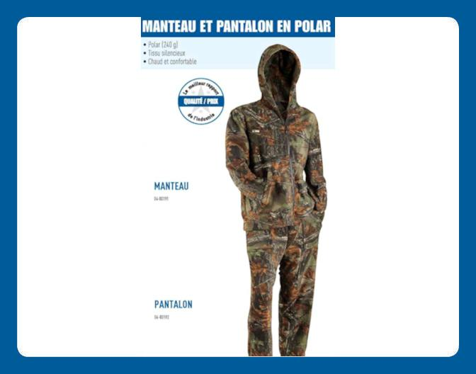 Manteau et Pantalon en polar