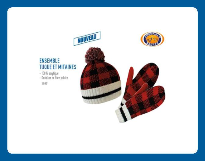 Ensemble de Tuque et Mitaines