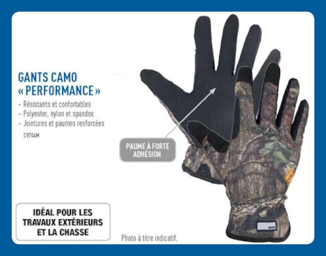Gants Camo Performance