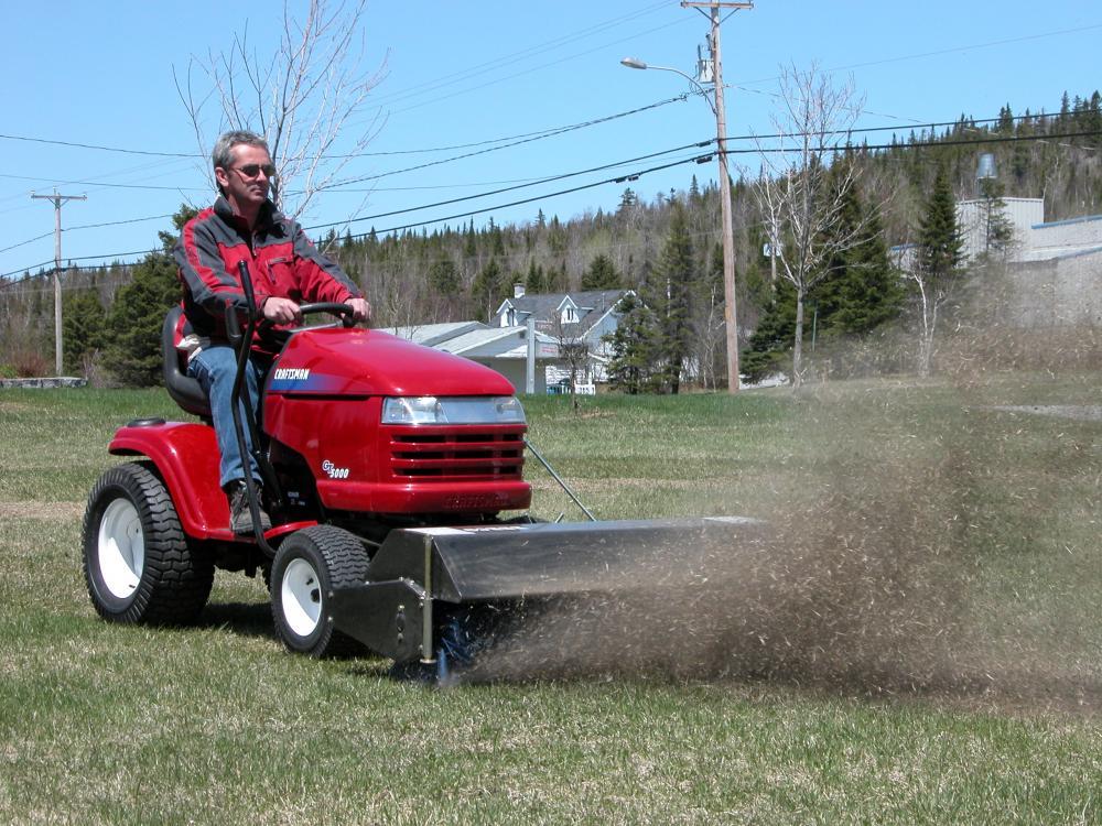 brosse berco 48 pouces pour tracteur pelouse et jardin