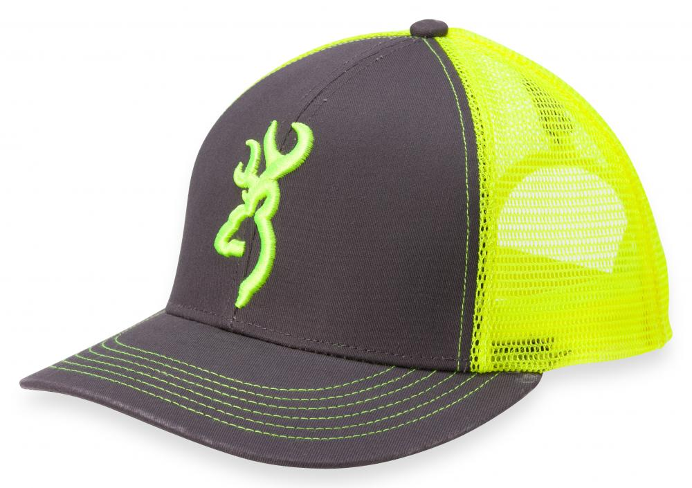 Casquette Browning Flashback Charcoal/Vert Néon