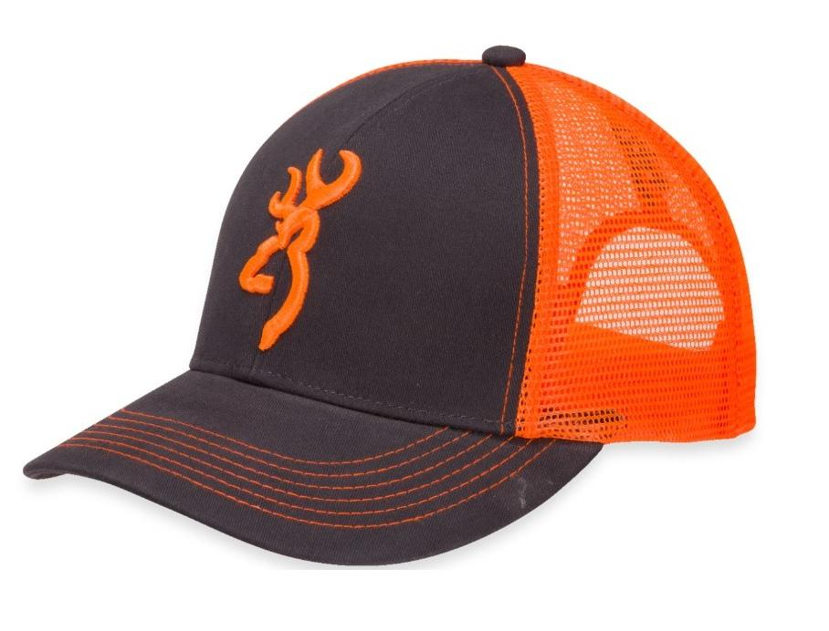 CASQUETTE BROWNING FLASHBACK CHARCOAL/ORANGE NÉON