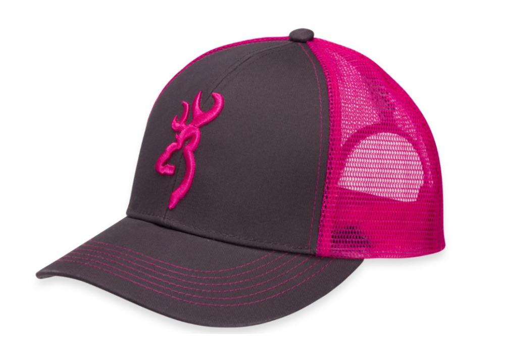 CASQUETTE BROWNING FLASHBACK CHARCOAL/ROSE NÉON