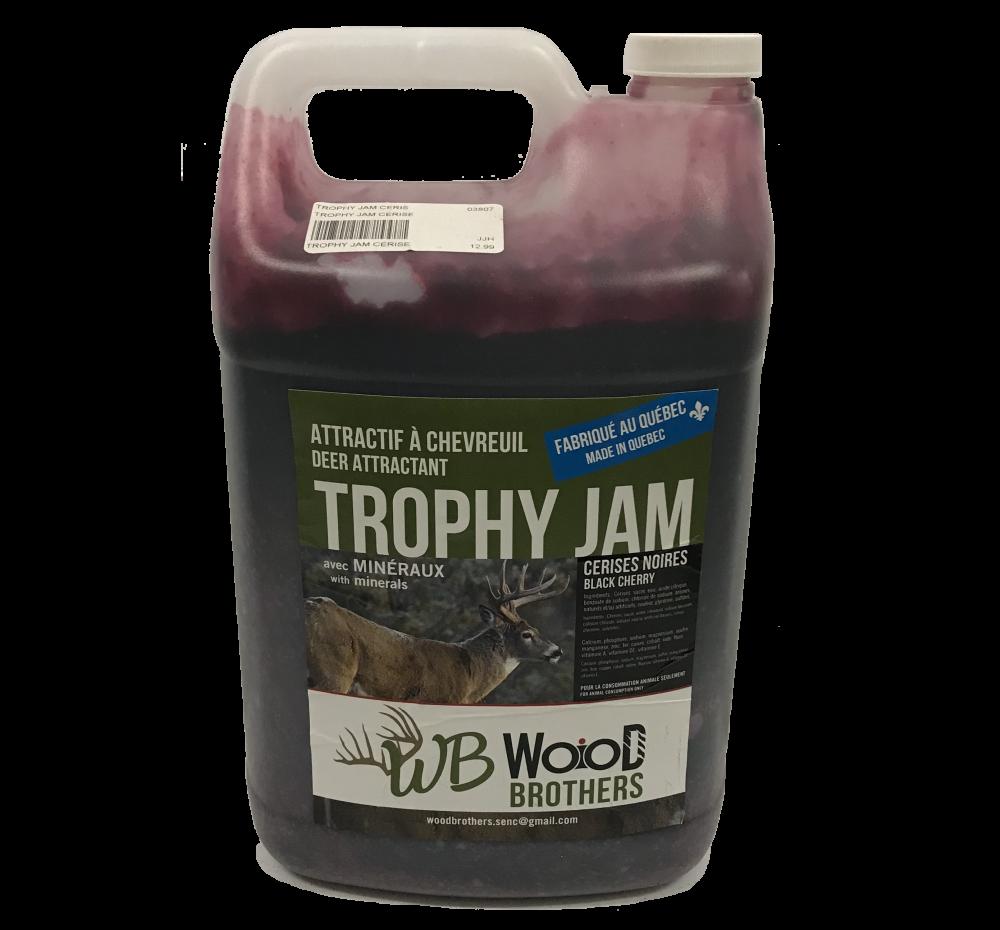 WB Wood Brothers Trophy Jam avec Minéraux Cerises Noires 4L
