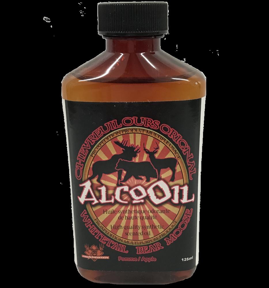 ProXpédition AlcoOil Huile Synthetique Odorante pour Chevreuil Ours Orignal Odeur Pomme