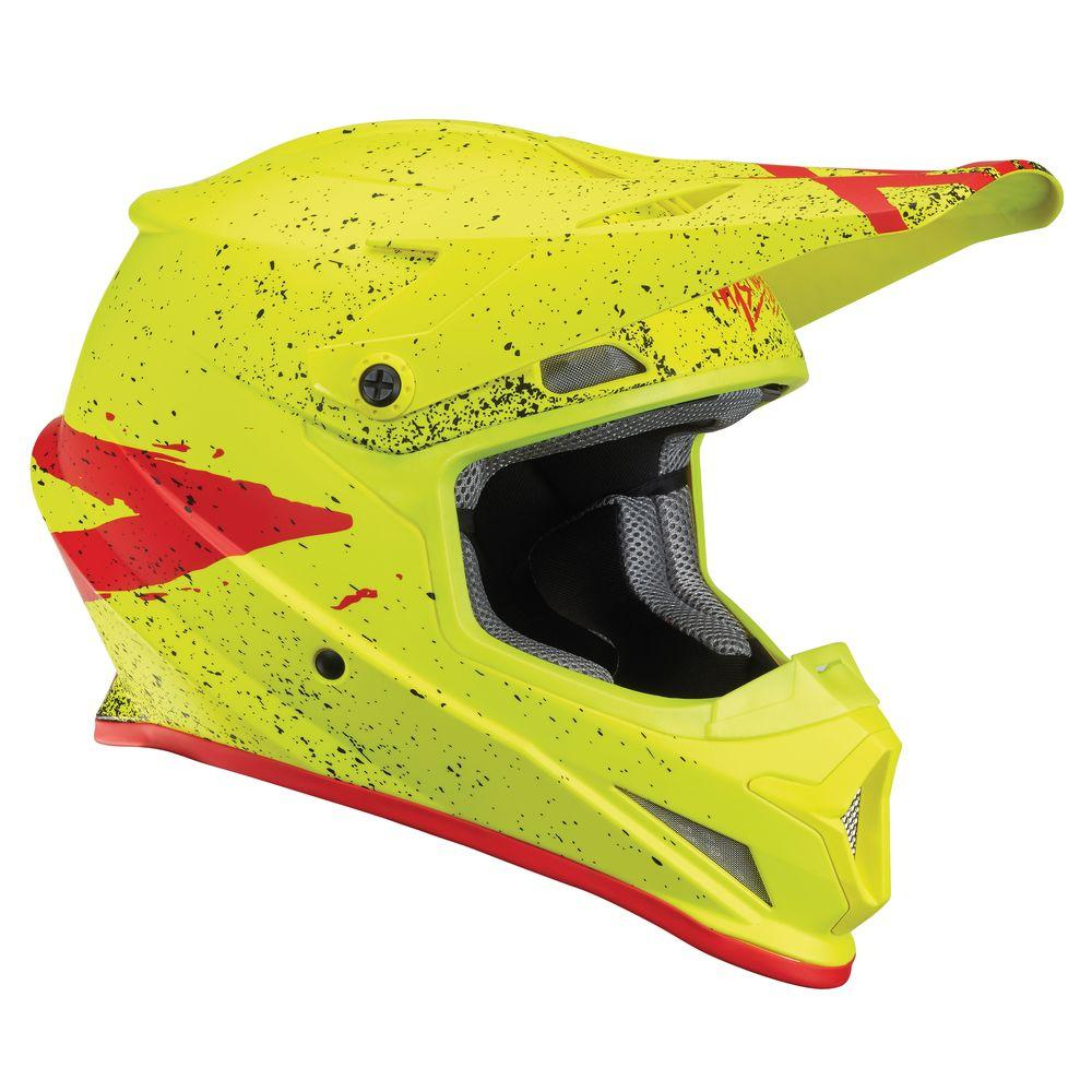 Casque Thor Sector Hype Jaune/Rouge