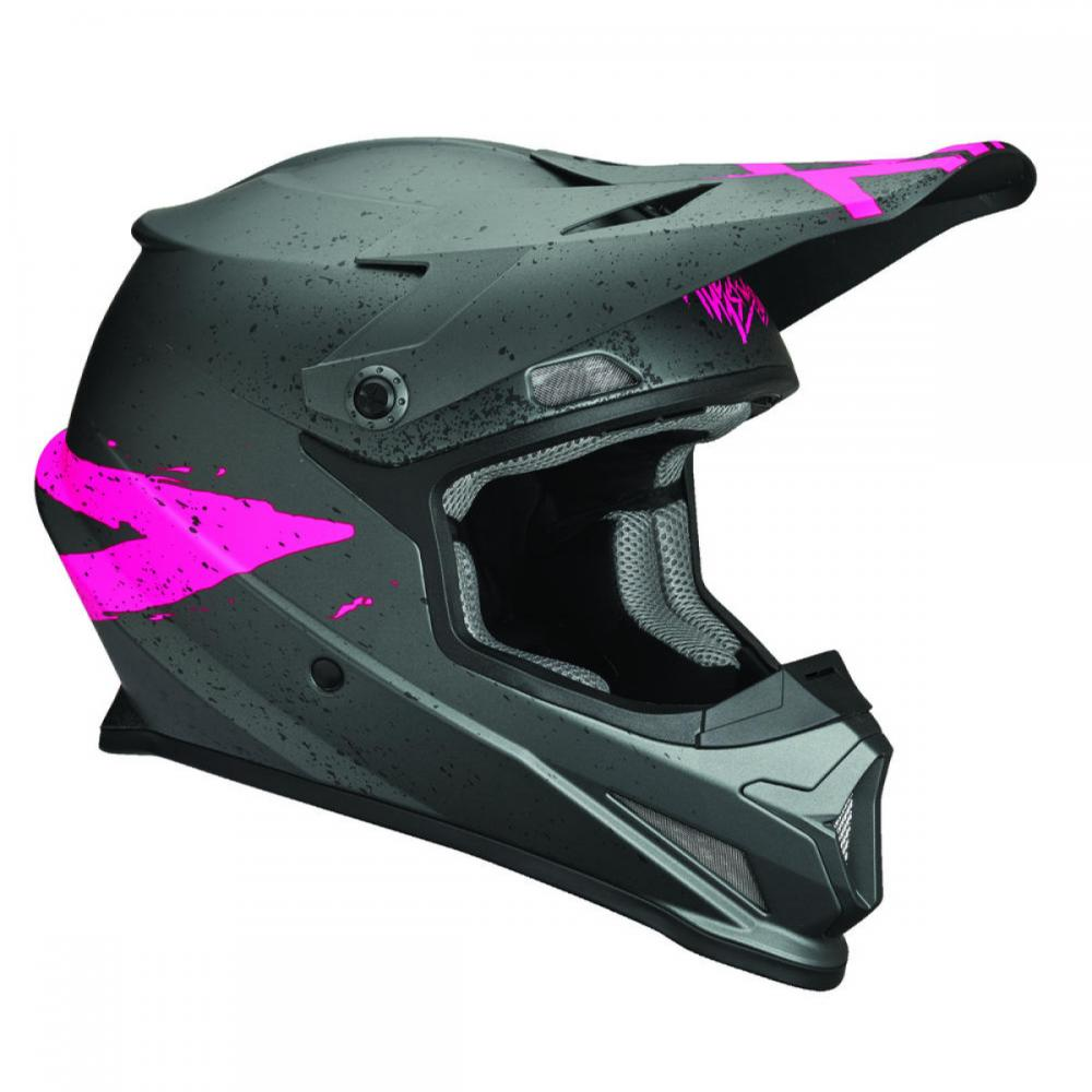 Casque Thor Sector Hype Charcoal/Rose