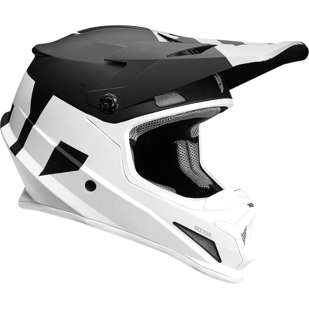 Casque Thor Sector Level Noir/Blanc