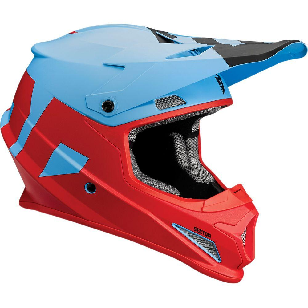 Casque Thor Sector Level Bleu/Rouge