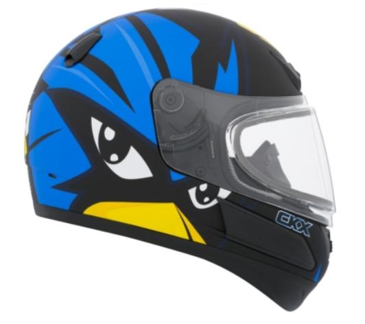 CKX Casque Intégral VGK1, Hiver - Junior Raven Bleu Mat