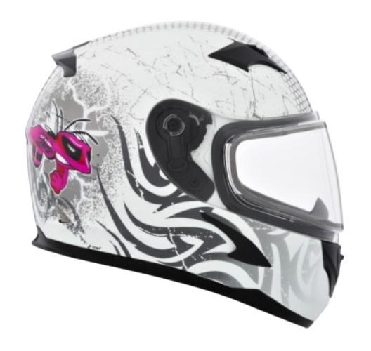 CKX Casque Intégral RR610Y, hiver - Junior Mad Bee Blanc/Rose