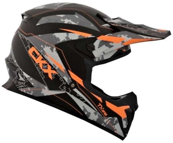 CKX Casque Hors-Route TX696 Glitch Orange Mat