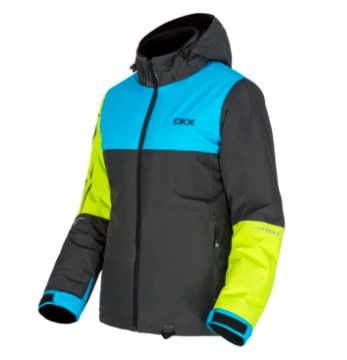 CKX FLURRY JACKET NOIR/BLEU/LIME