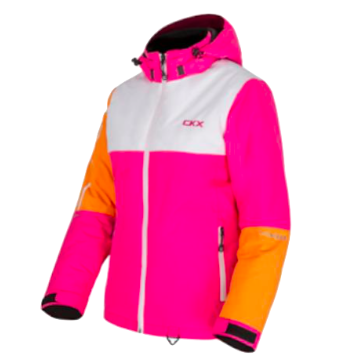 CKX FLURRY JACKET ROSE/BLANC/ORANGE
