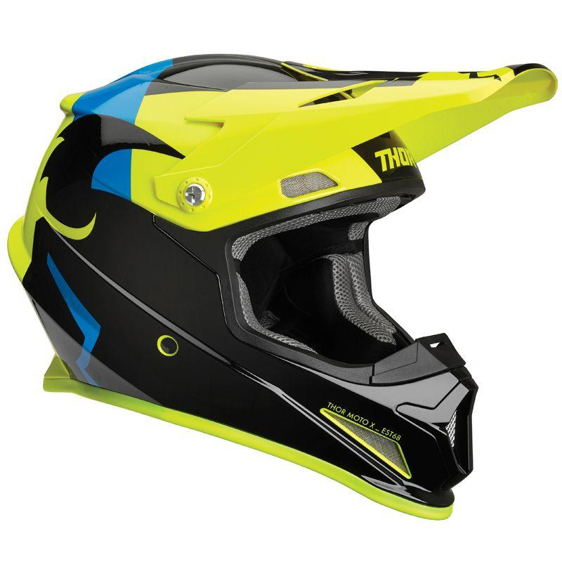 CASQUE CROSS THOR SECTOR SHEAR NOIR ACID
