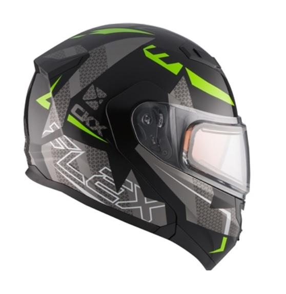 CKX Casque Modulaire Flex RSV, hiver Hero Vert