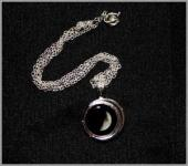 Silver plated birth moon pendant - CHRISTMAS SPECIAL