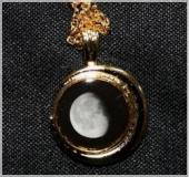 Gold plated birth moon pendant - CHRISTMAS SPECIAL!