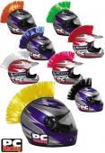 Accessoire pour casque Mohawk PC Racing, noir, rouge, vert, rose, jaune, blanc, bleu, orange, Estrie