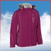 Manteau de motoneige Choko Adventurer pour femmes, noir, gris, framboise, prune