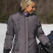 Manteau Choko Adventurer Gris Hachuré Femme Motoneige VTT Hiver Imperméable