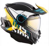 Casque d'hiver intégral CKX Mission Ramble, visière électrique, bleu, orange, jaune, brun ou rouge