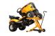 cric hydraulique  lift a tracteur de pelouse
