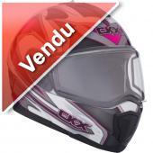 Casque CKX Tranz RSV 1.5 Yan Rose hiver modulaire motoneige vtt visière électrique (Vendu)